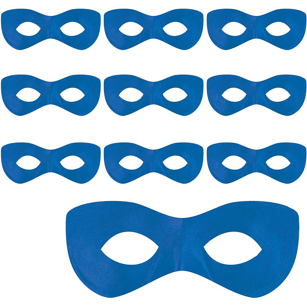 Blue Domino Masks 10ct Image #1