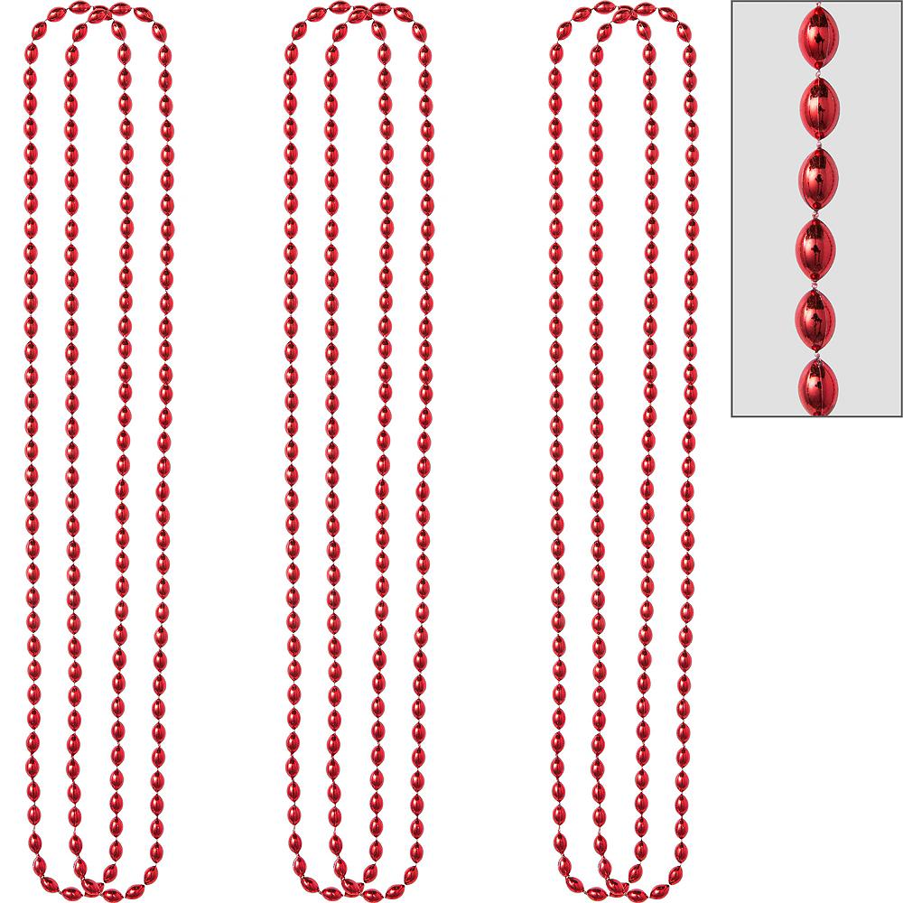 Metallic Red Bead Necklaces 10ct Image #1