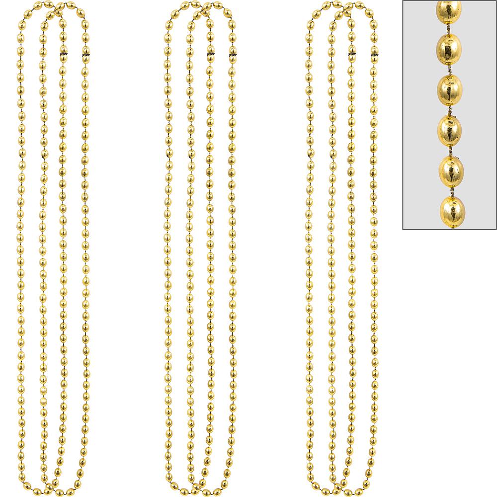 Metallic Gold Bead Necklaces 10ct Image #1