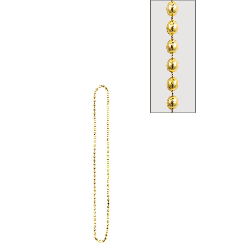 Metallic Gold Bead Necklaces 10ct Image #2