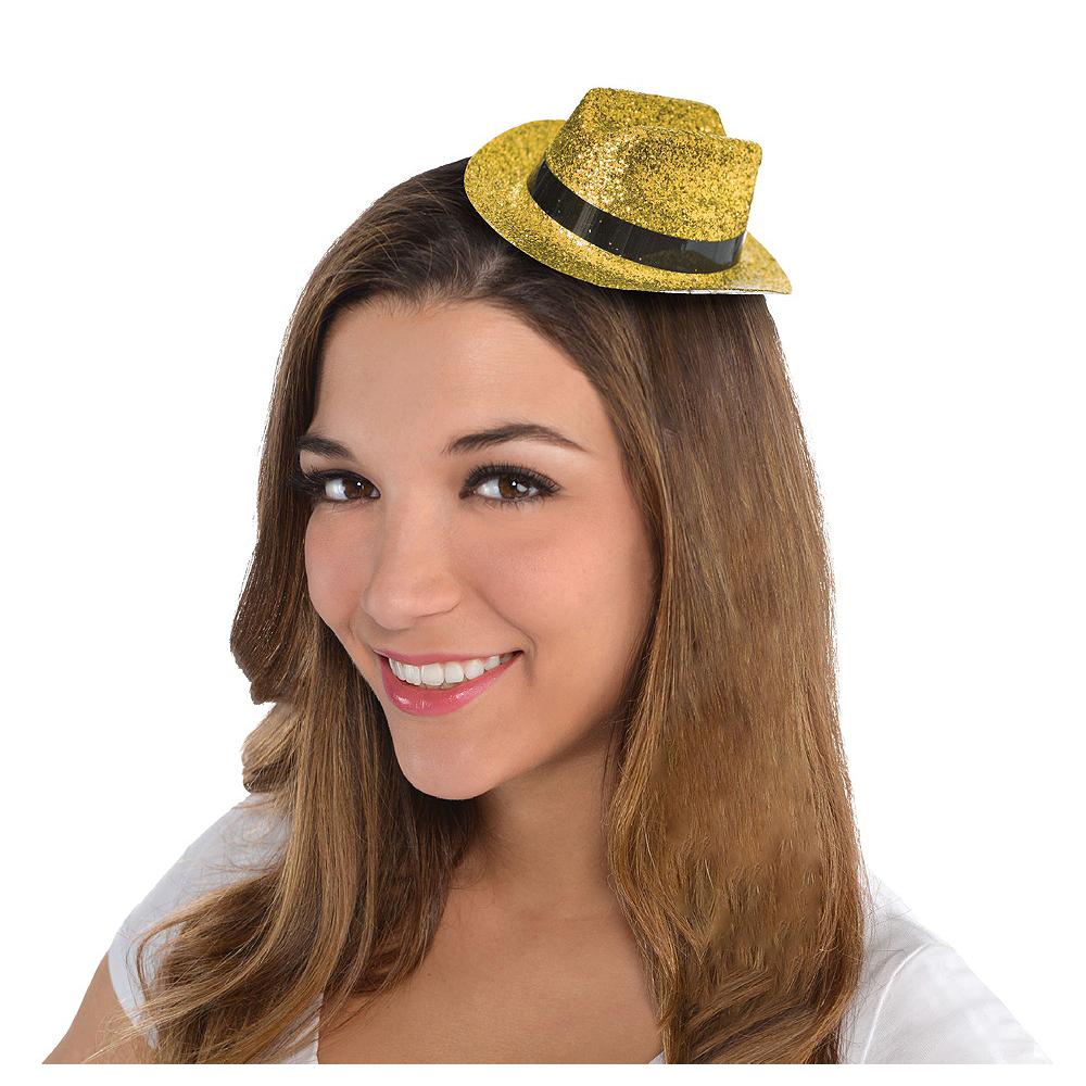 Gold Glitter Mini Cowboy Hats 10ct Image #2