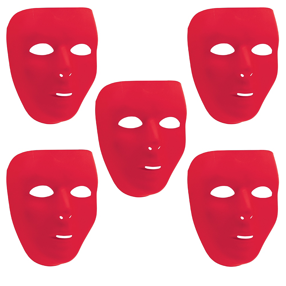 Red Face Masks 10ct Image #1