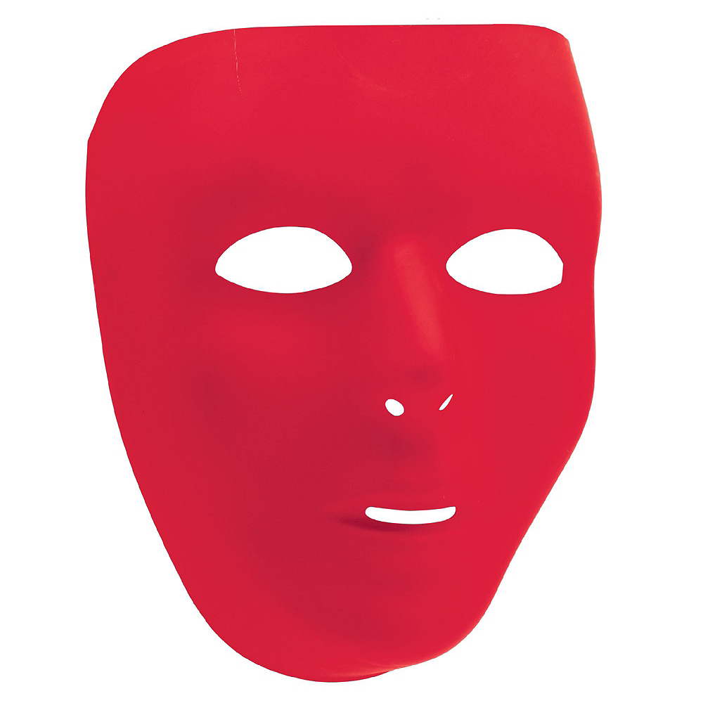 Red Face Masks 10ct Image #2