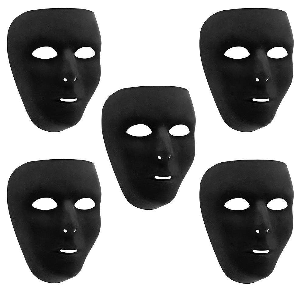 Black Face Masks 10ct Image #1