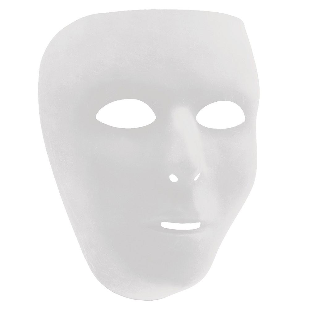 White Face Masks 10ct Image #2