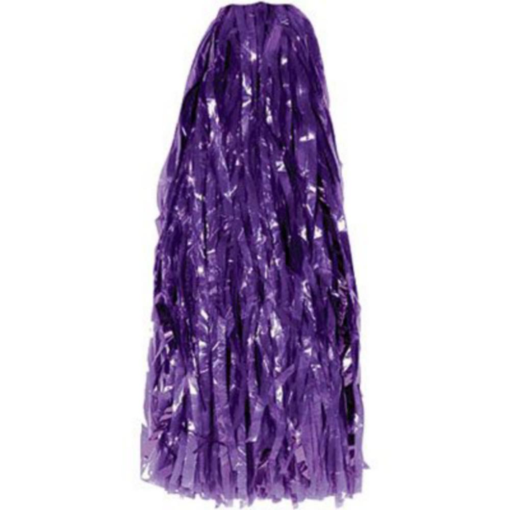 Purple Pom Poms 10ct Image #2