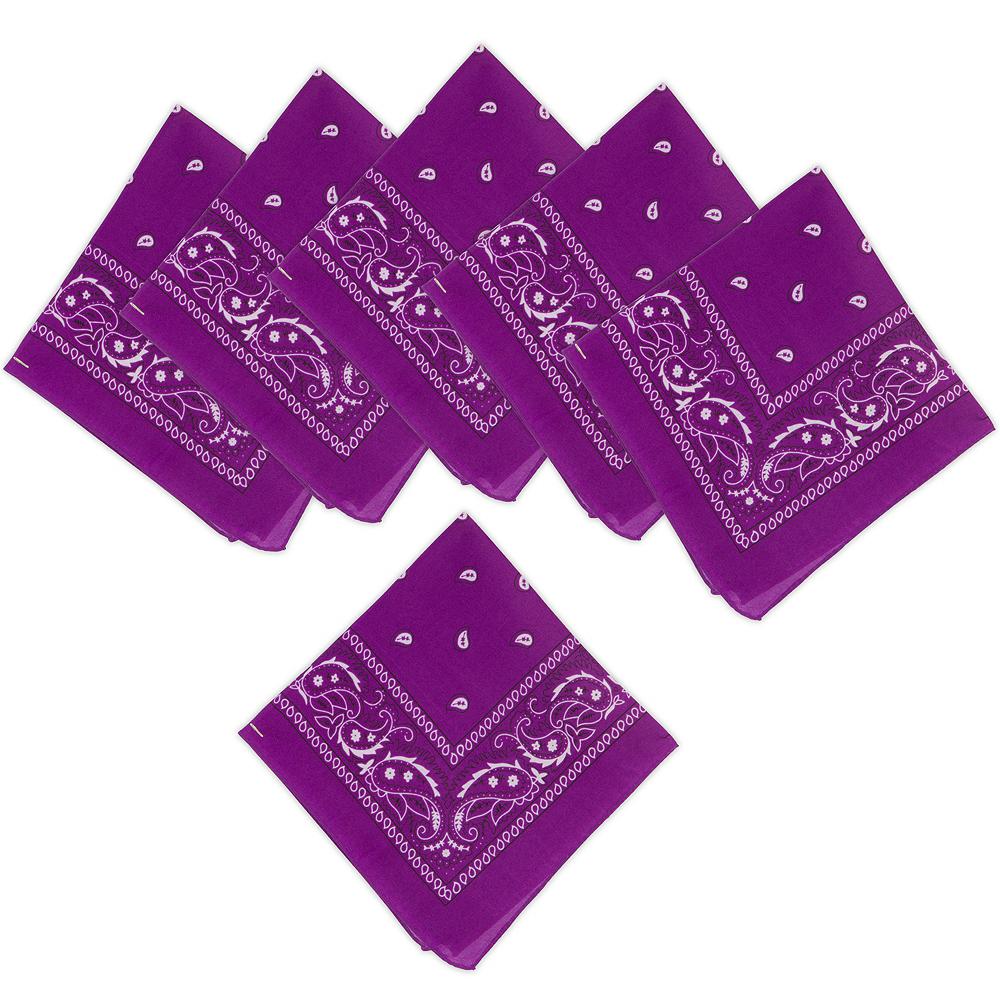 Purple Bandanas 10ct Image #1