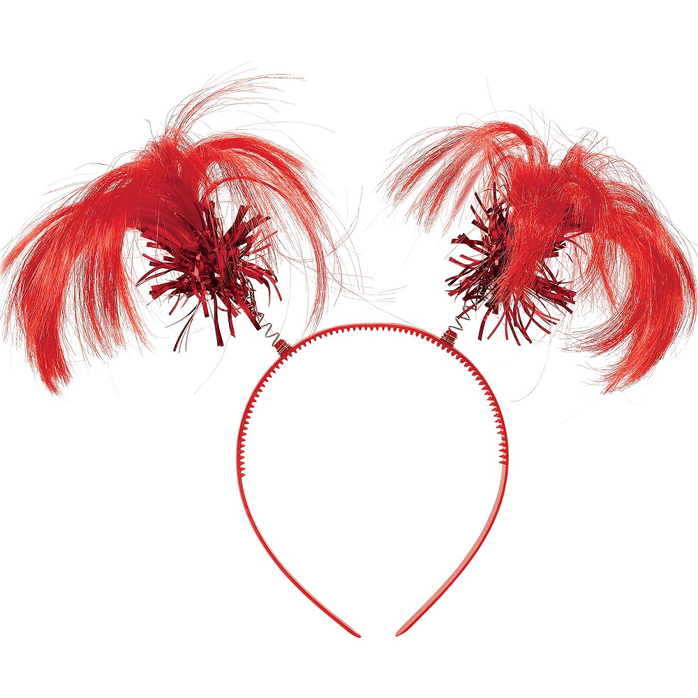 Red Ponytail Head Boppers 10ct Image #2