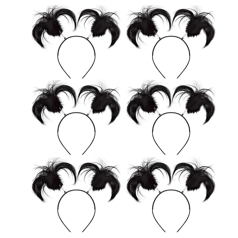 Black Ponytail Head Boppers 10ct Image #1