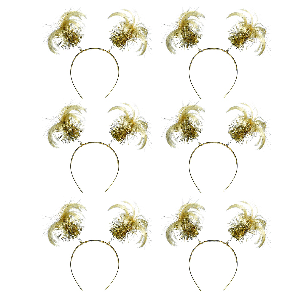 Gold Ponytail Head Boppers 10ct Image #1