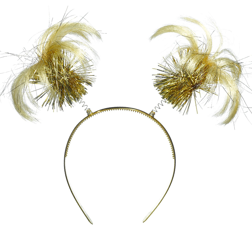 Gold Ponytail Head Boppers 10ct Image #2