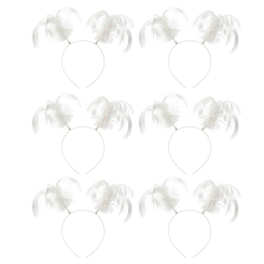 White Ponytail Head Boppers 10ct Image #1