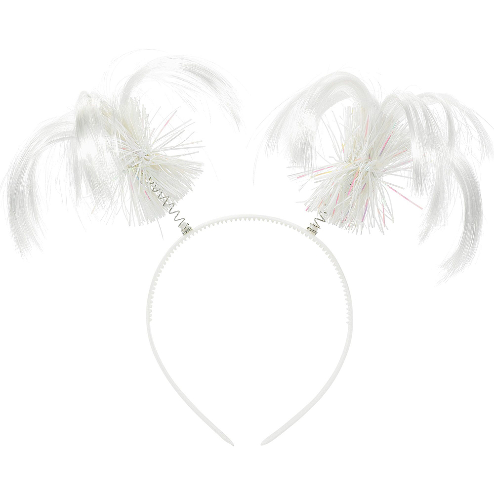 White Ponytail Head Boppers 10ct Image #2