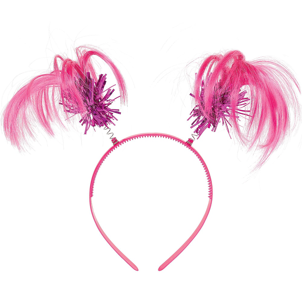 Pink Ponytail Head Boppers 10ct Image #2