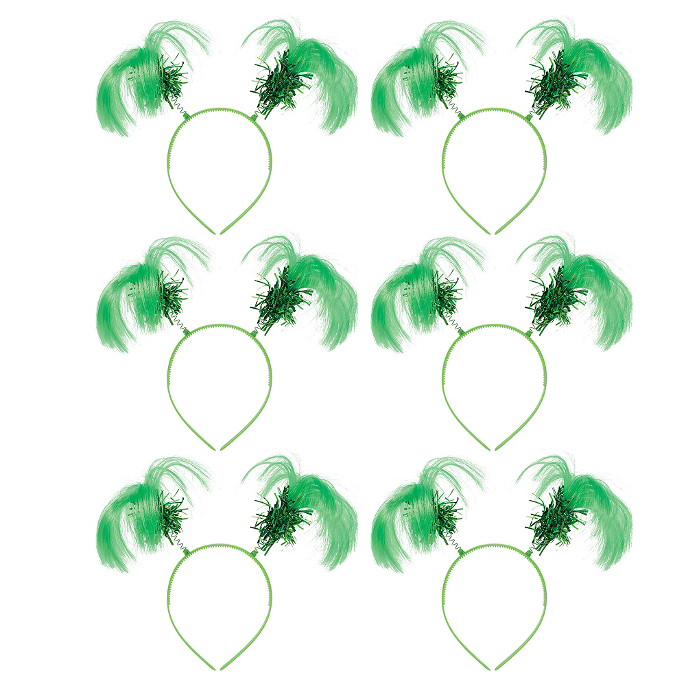 Green Ponytail Head Boppers 10ct Image #1