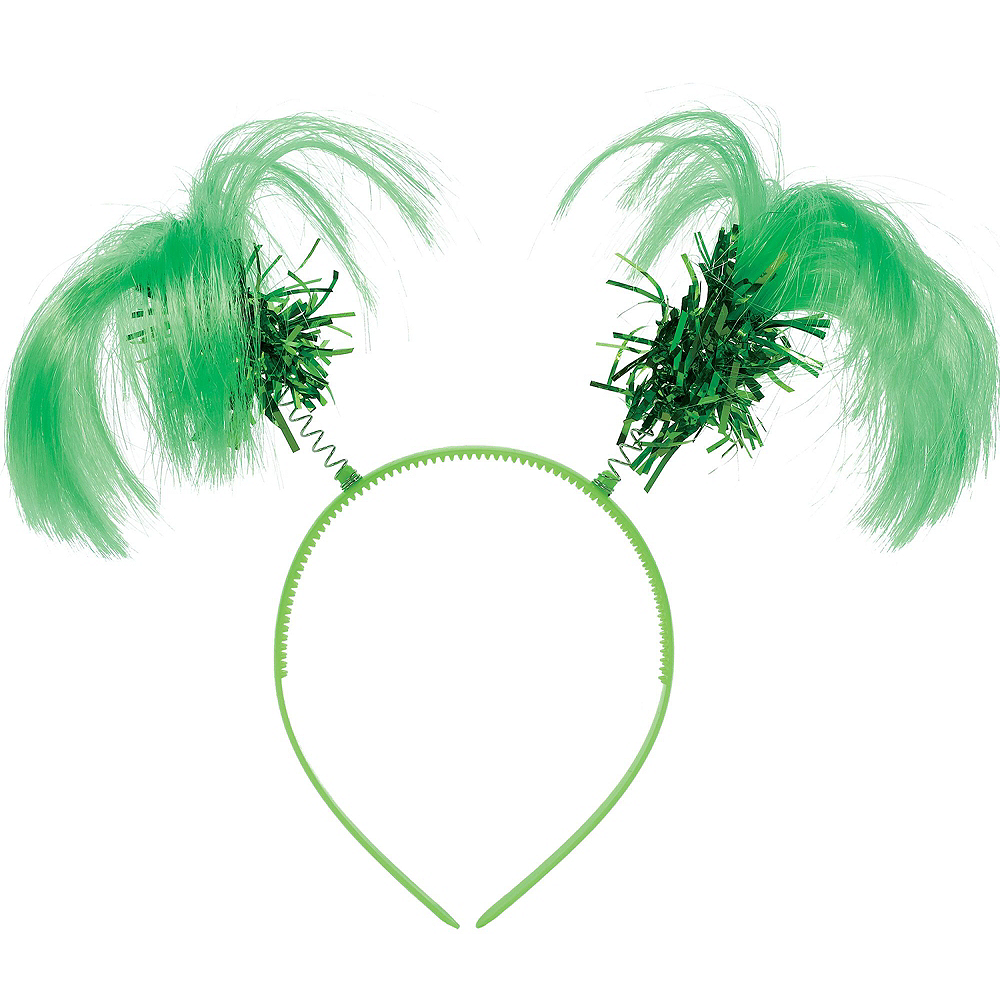 Green Ponytail Head Boppers 10ct Image #2
