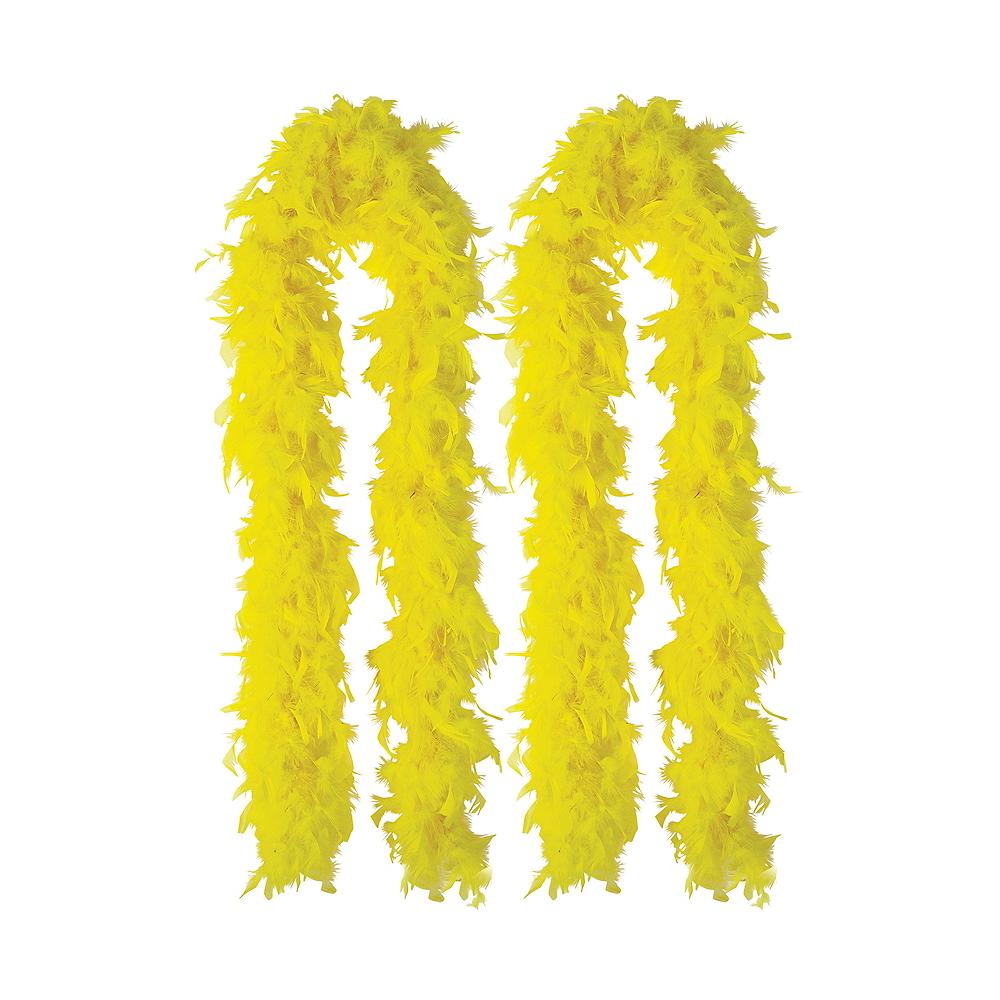 Yellow Feather Boas 2ct Image #1