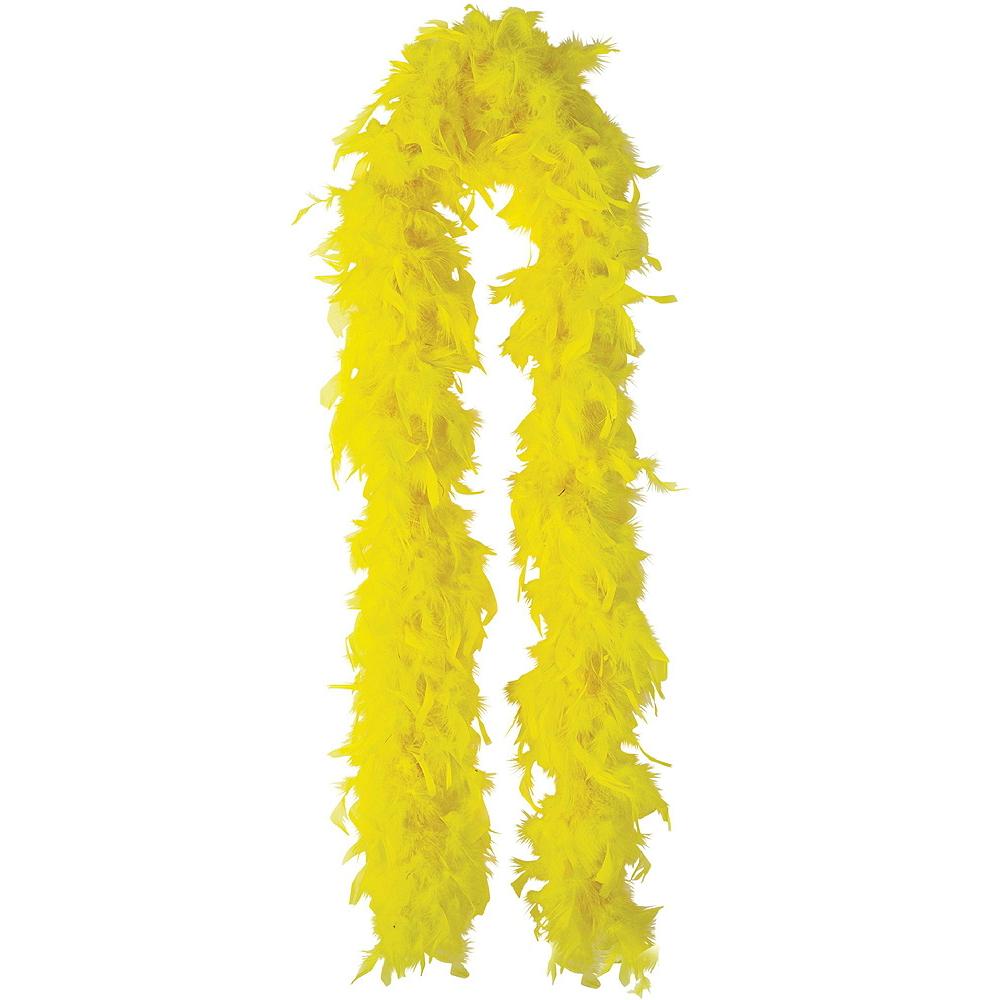 Yellow Feather Boas 2ct Image #2