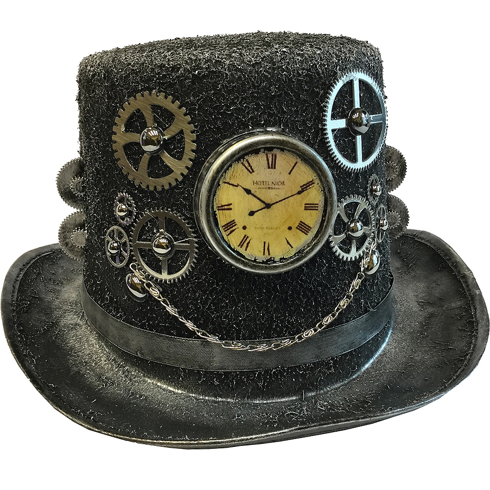 Iets Nieuws Steampunk Top Hat 12 1/2in x 6in | Party City #AE85