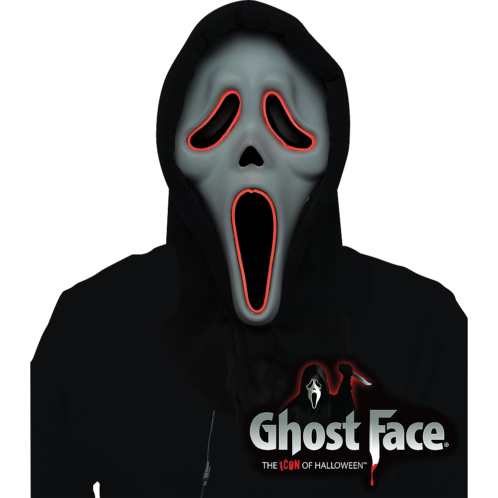 Light-Up Ghost Face Mask Image #2