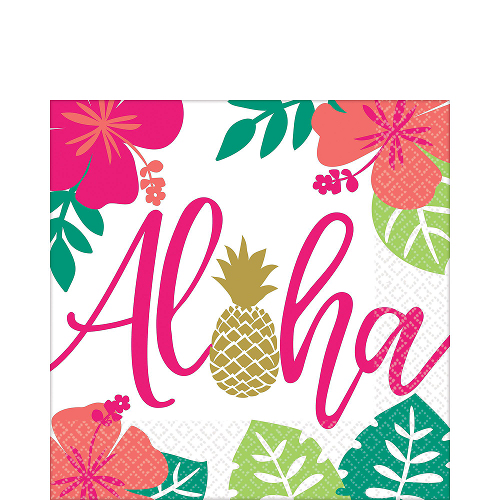 You Had Me At Aloha Party Pack for 16 Guests Image #5