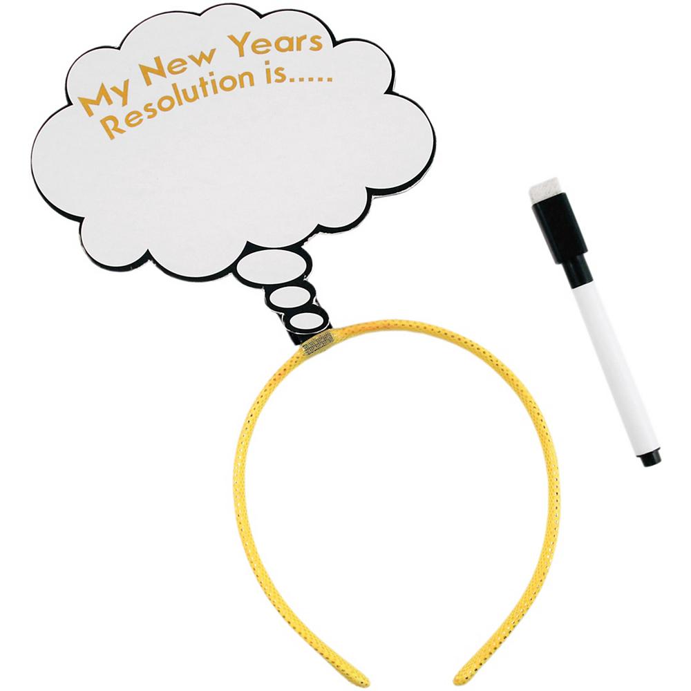 New Year's Resolution Headband Image #1