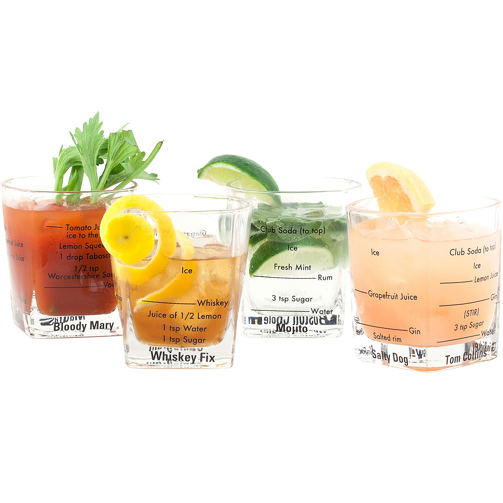 Cocktail Recipe Cups 4ct Image #2