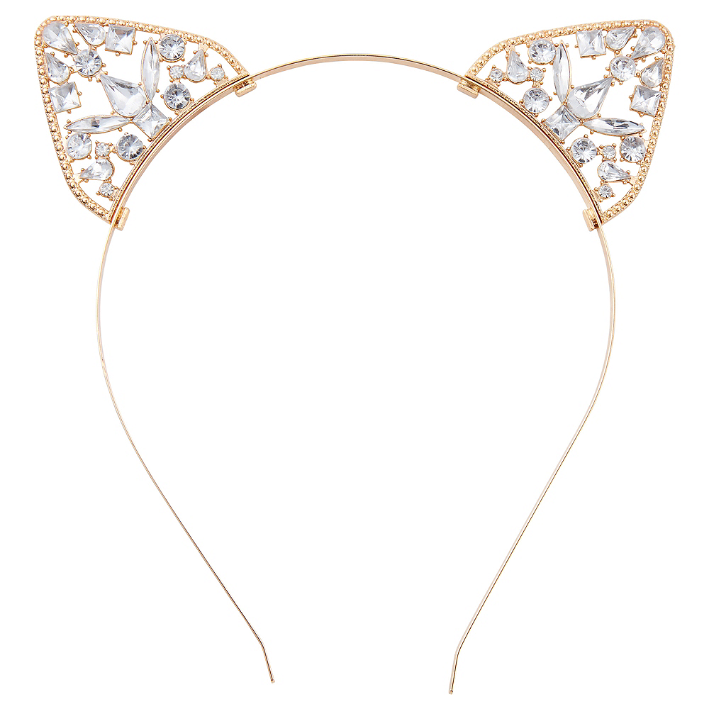 Child Cat Ear Gem Headband Image #1