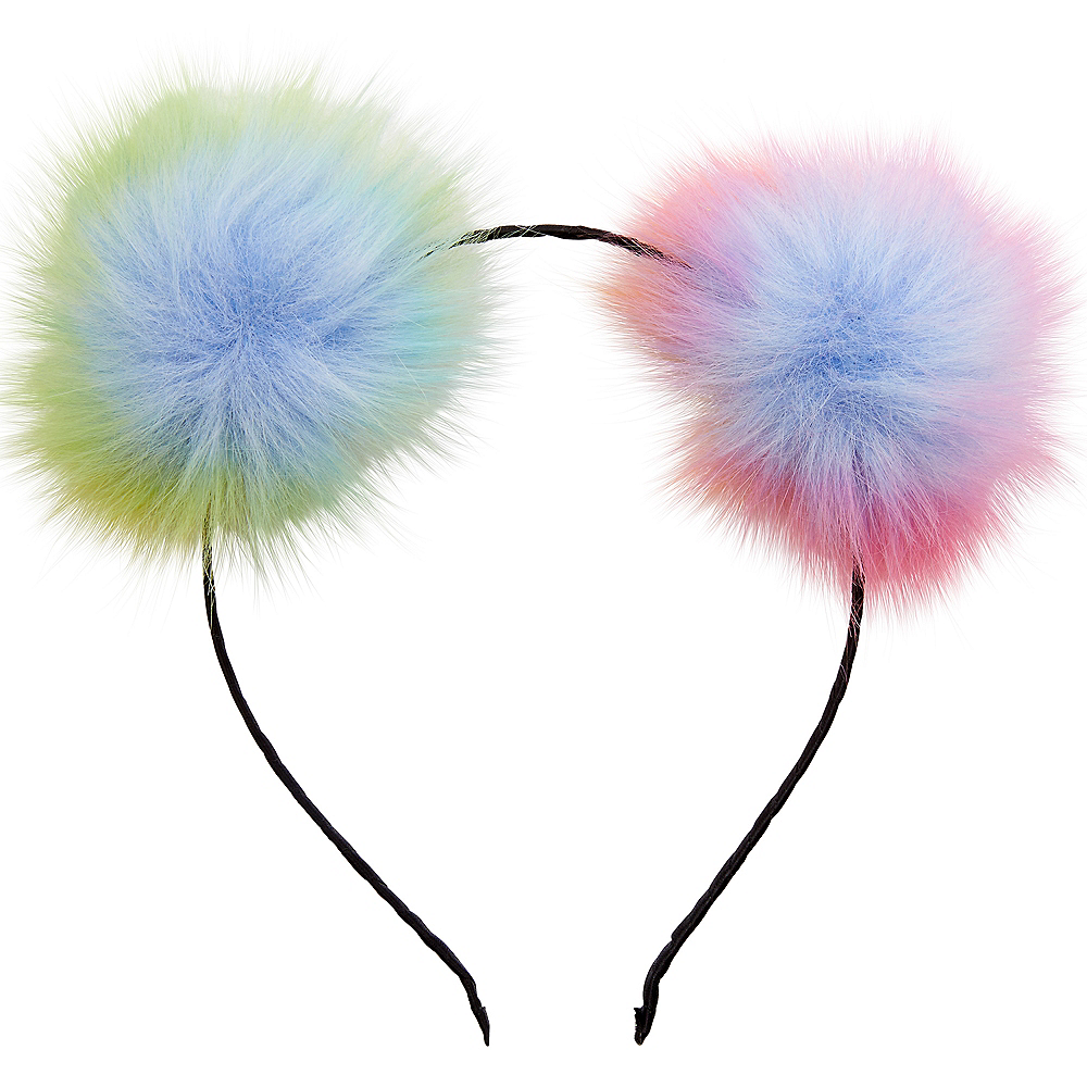 Child Rainbow Pom-Pom Headband Image #1