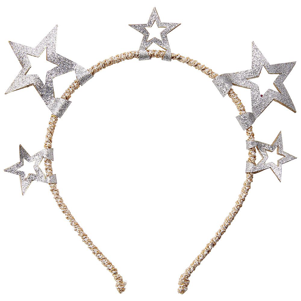 Child Silver Glitter Star Headband Image #1