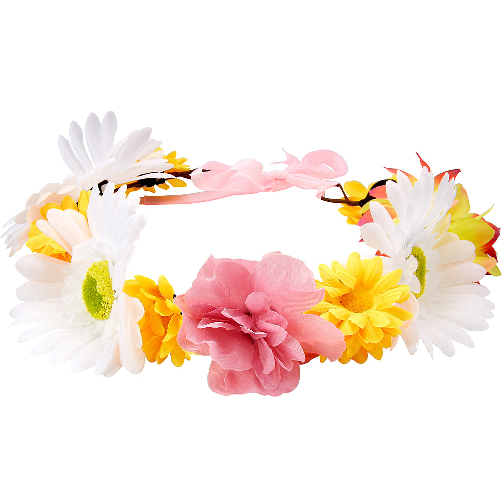 Child Pink & Yellow Flower Crown Image #1