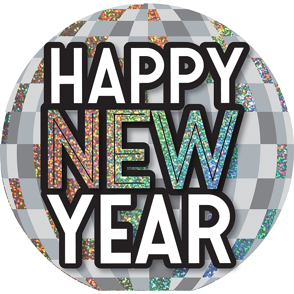 Happy New Year Disco Ball Easel Sign Image #1
