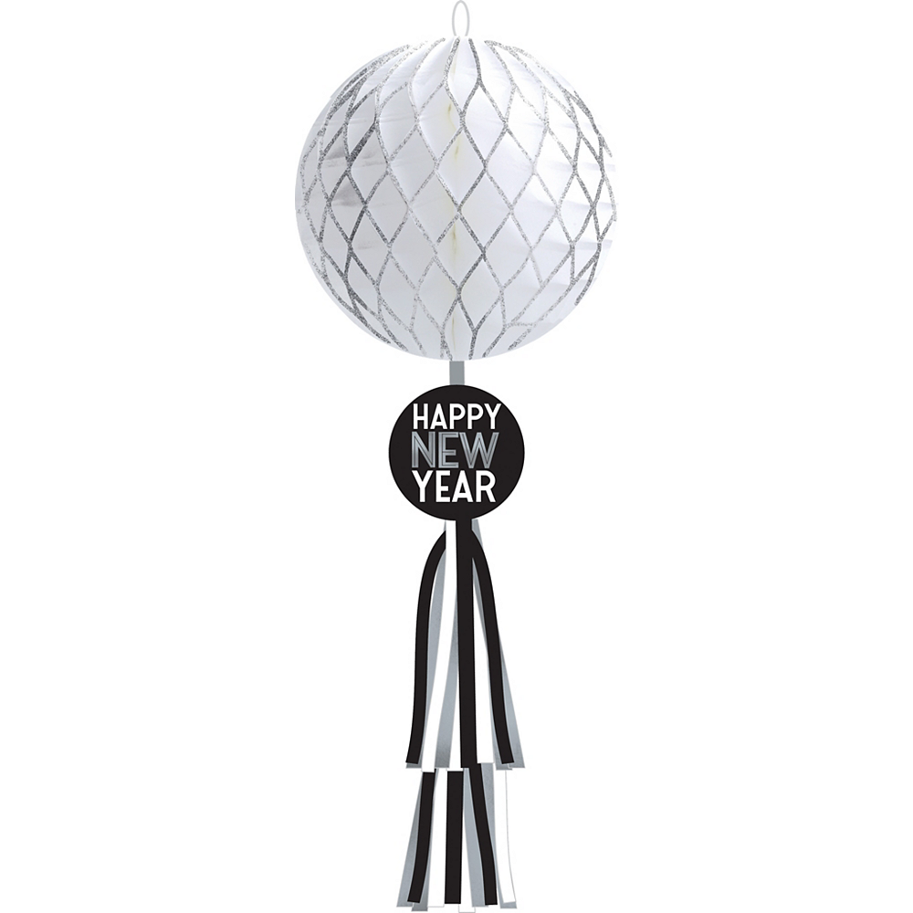 Happy New Year Ball Drop Honeycomb Decoration Image #1