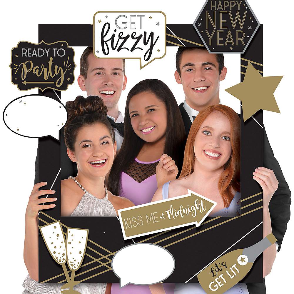 Giant Customizable New Year's Photo Frame Kit Image #1