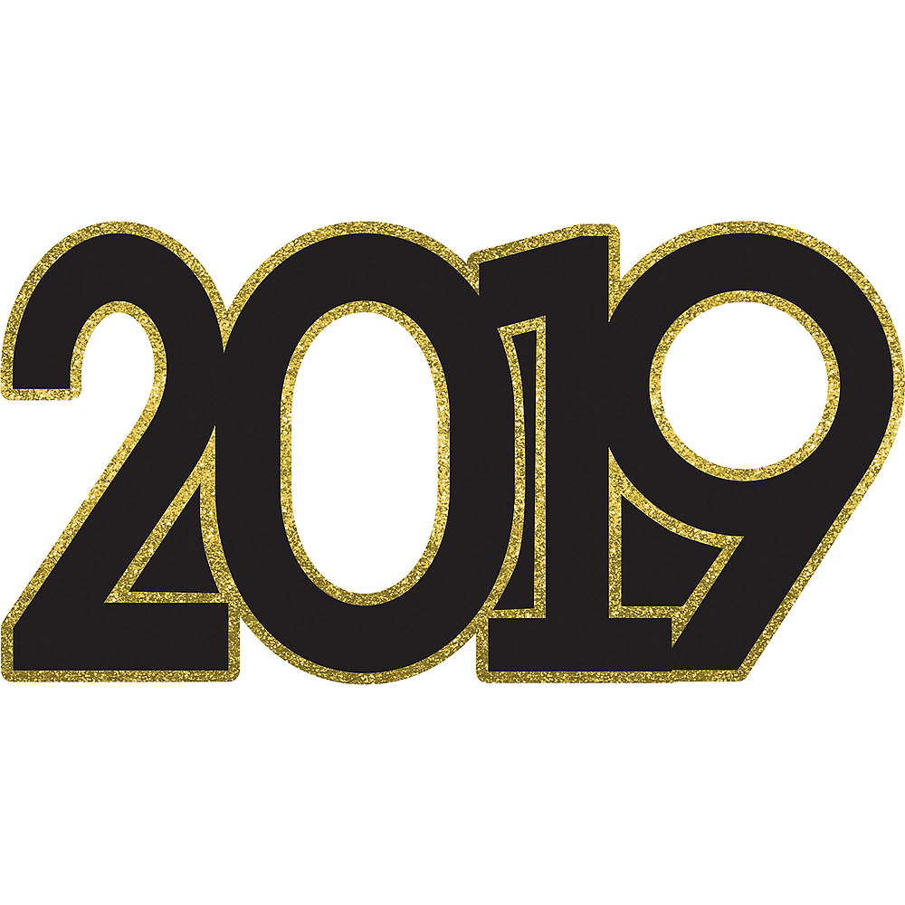 Giant Black Gold 2019 Photo Booth Prop 39in X 19 12in Party City
