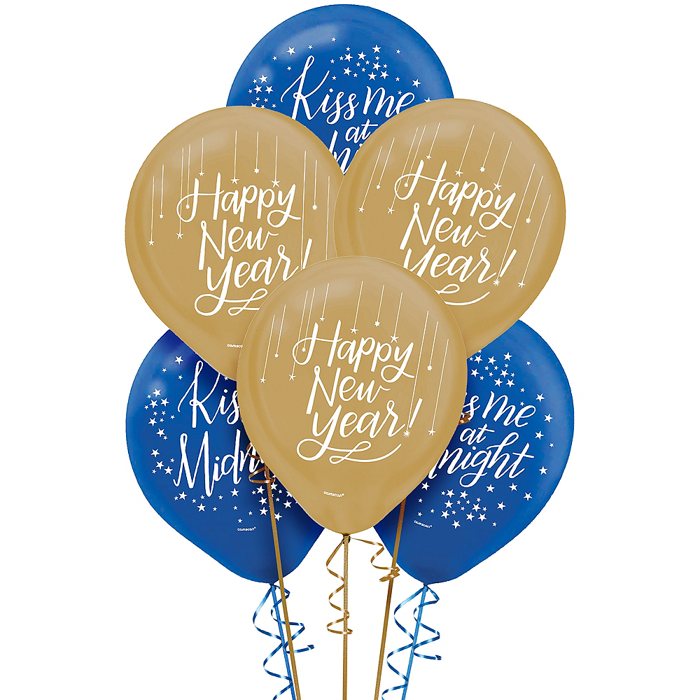 Midnight New Year's Eve Balloons 15ct Image #1