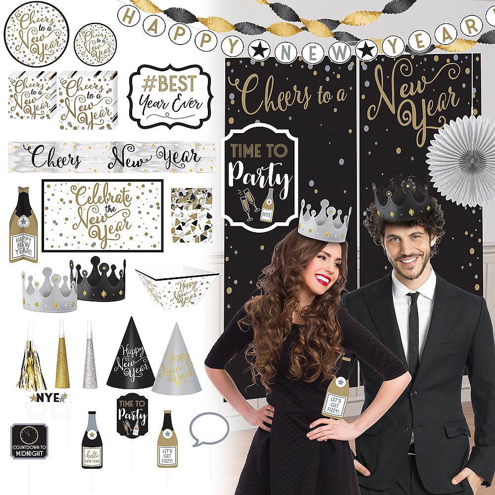 New Year's Eve All-in-One Party Kit 160pc Image #1