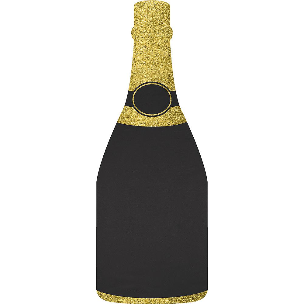 Glitter Gold Champagne Bottle Chalkboard Easel Sign Image #1