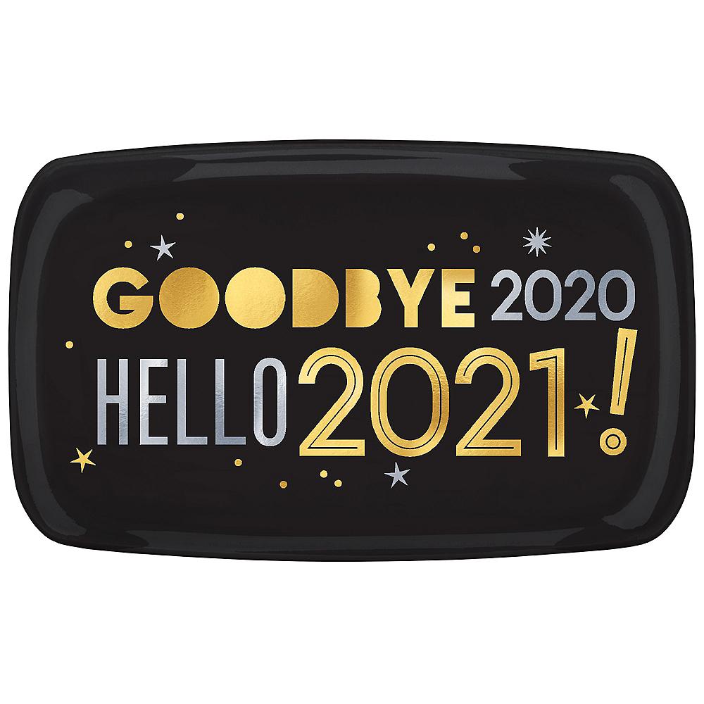 Black, Gold & Silver 2020 Rectangular Platter Image #1