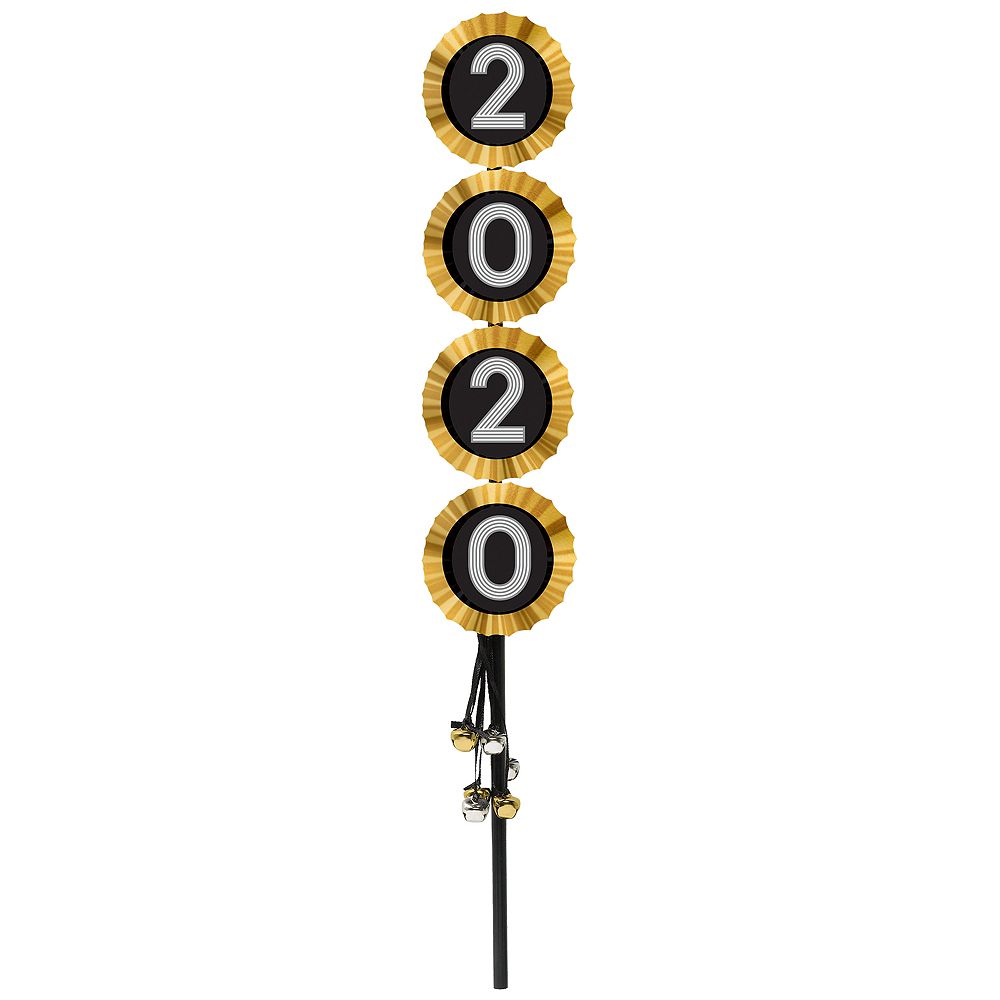 Metallic Black & Gold 2020 Jingle Bell Wand Image #1