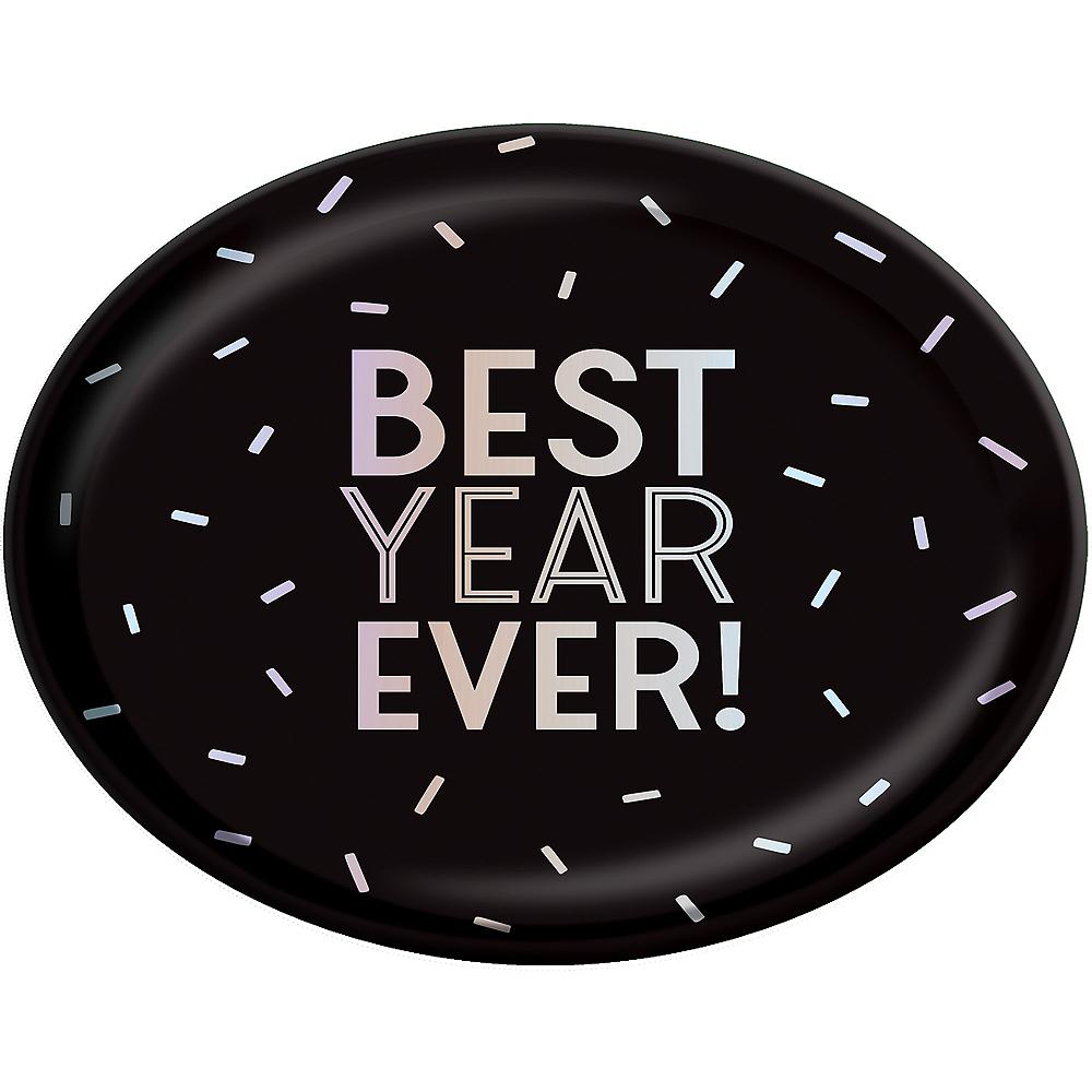 Black & Iridescent Best Year Ever Platter Image #1
