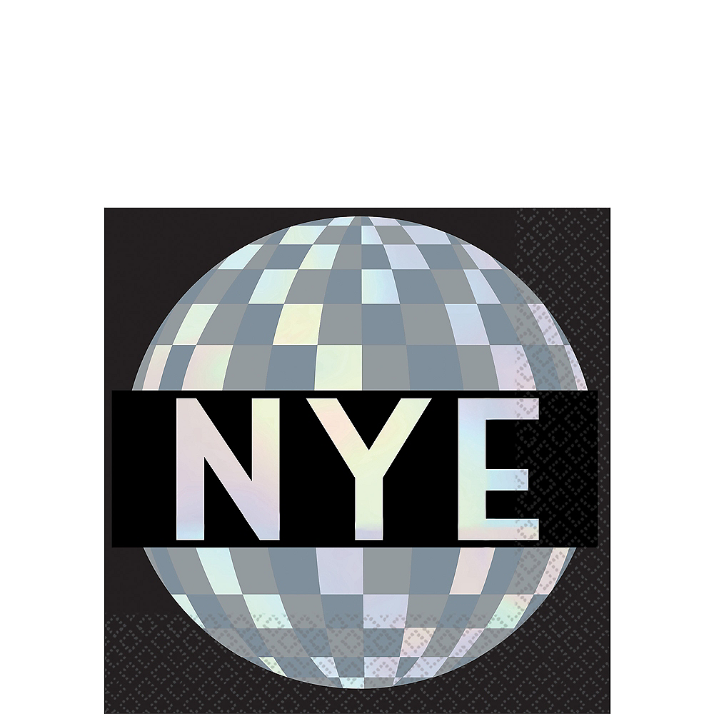 Disco Ball NYE Beverage Napkins 16ct Image #1