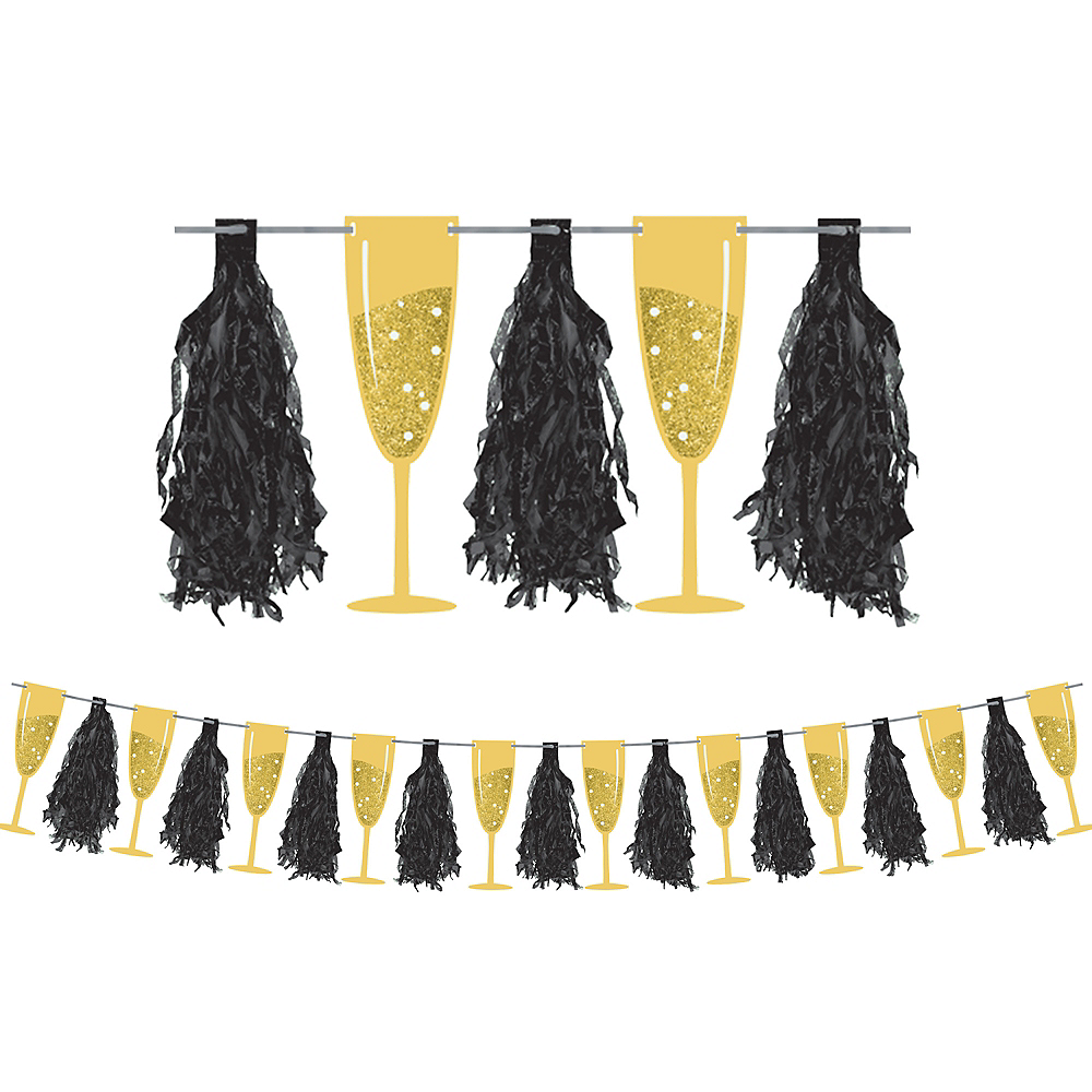 Champagne Flute Tassel Garland Image #1