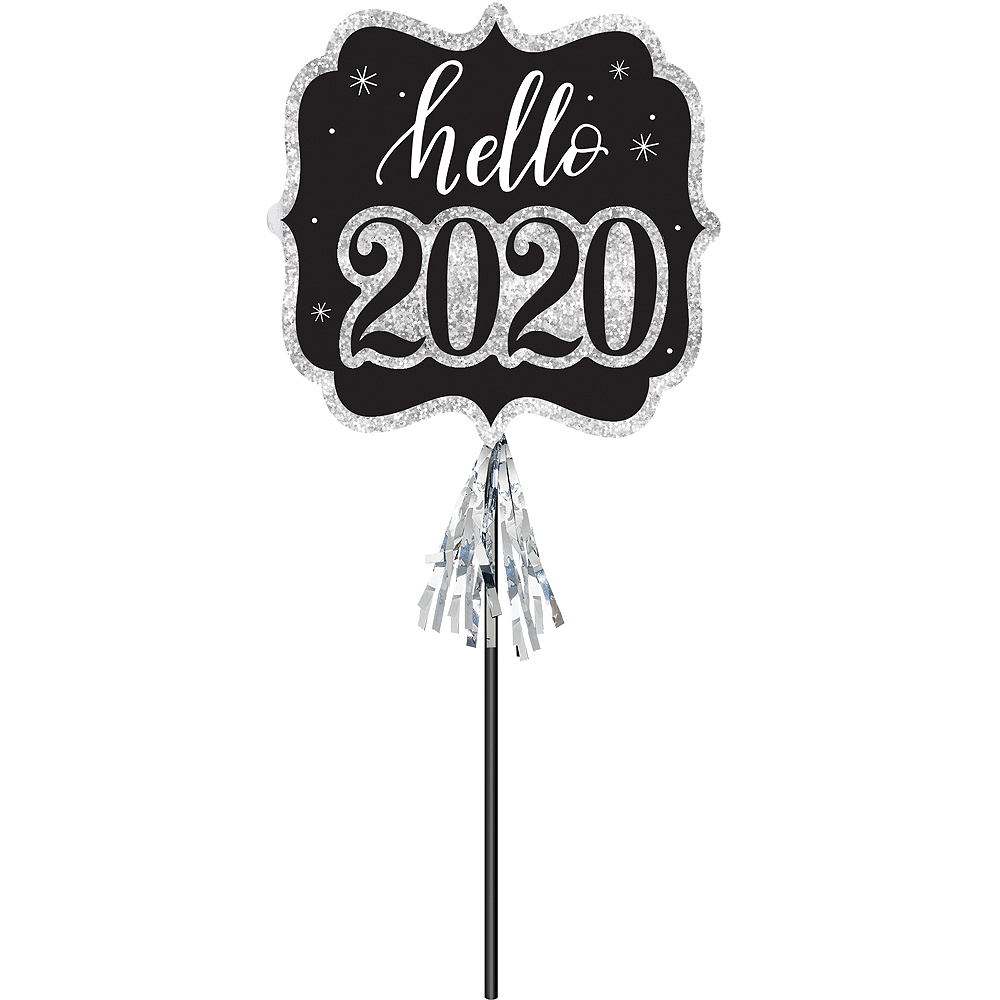 Nav Item for Black & Silver Hello 2020 Photo Prop Image #1