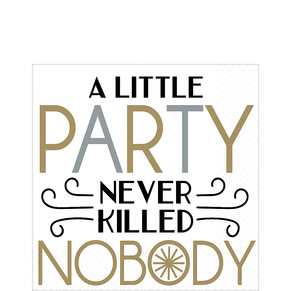 Dapper Night A Little Party Lunch Napkins 36ct Image #1