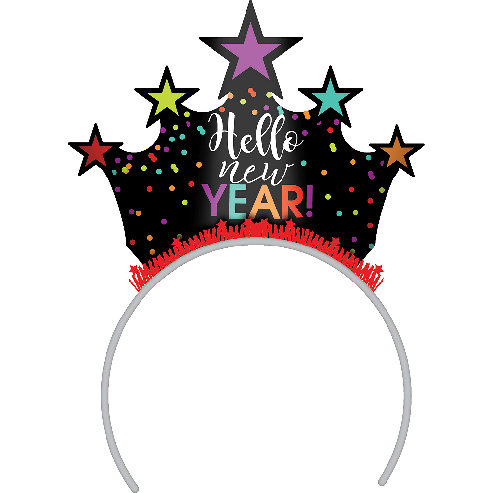 Colorful Dots New Year's Eve Tiara Headband Image #1