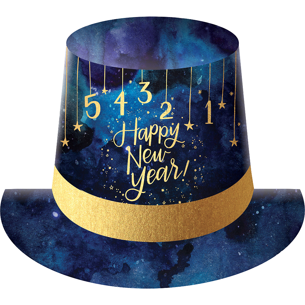 Midnight New Year's Eve Top Hat 9in x 11in | Party City