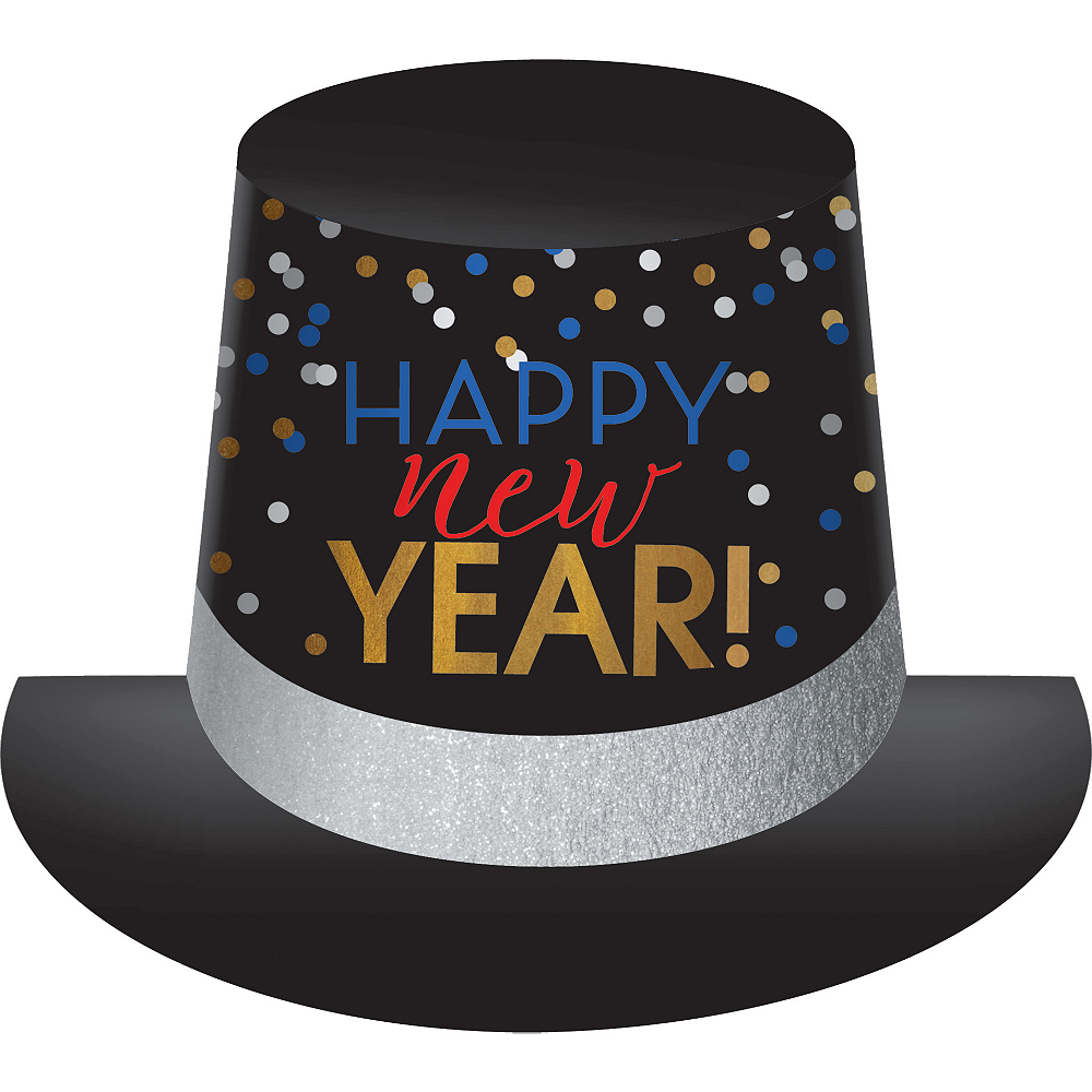 Happy New Year Top Hat 9in x 11in | Party City
