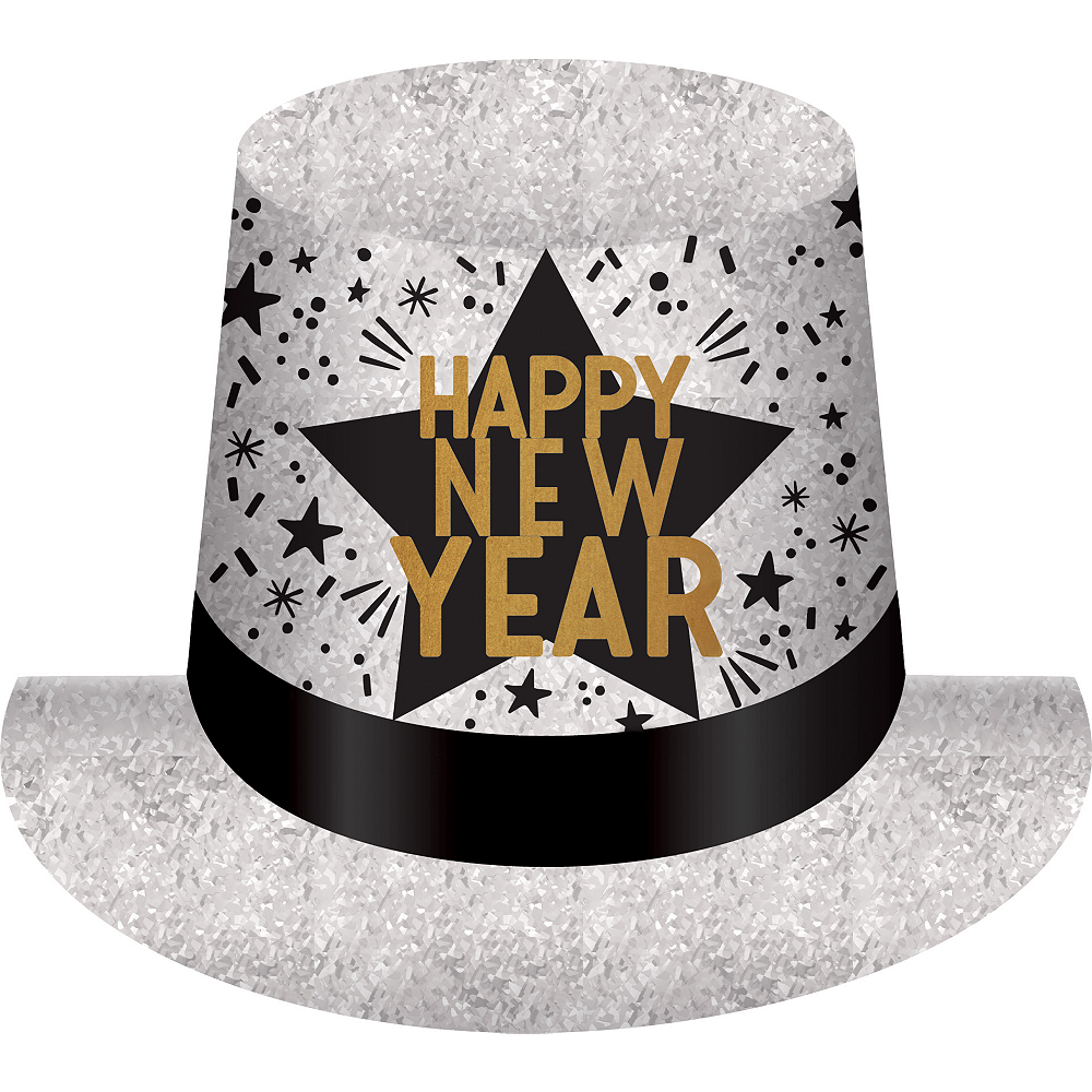 Prismatic Happy New Year Top Hat Image #1