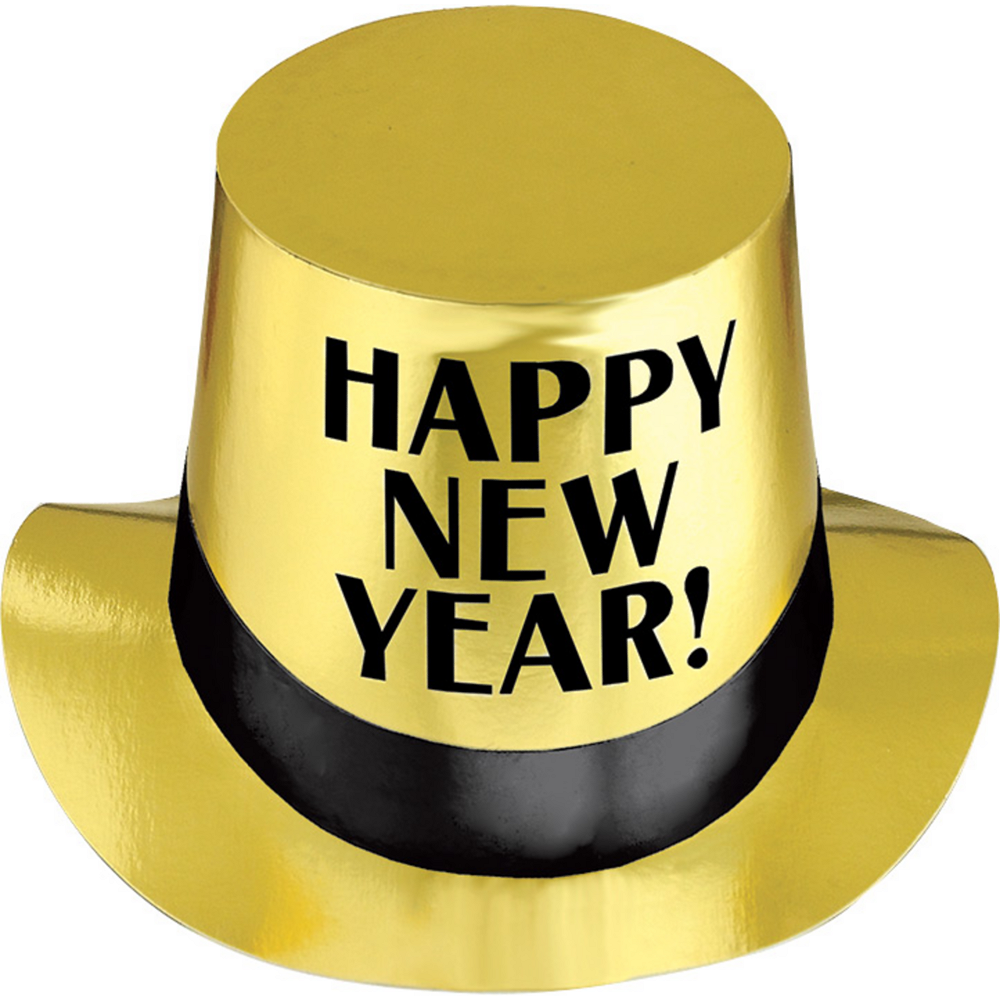 Gold Happy New Year Top Hat Image #1
